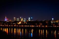Διάσημοι ουρανοξύστες της Βαρσοβίας Στοκ φωτογραφίες με δικαίωμα ελεύθερης χρήσης
