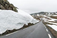 Διάσημος δρόμος βουνών Aurlandsvegen Στοκ Εικόνες