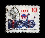 Διάσημος επιστήμονας Άλμπερτ Αϊνστάιν, διαστημόπλοιο, circa 1979, Στοκ Εικόνες