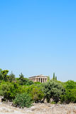 Διάσημος ελληνικός ναός στην Ελλάδα Στοκ φωτογραφία με δικαίωμα ελεύθερης χρήσης