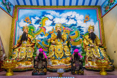 Διάσημος Θεός αγαλμάτων Yu Guan στην Κίνα Στοκ Φωτογραφία