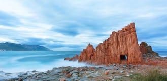 Διάσημος κόκκινος βράχος σε Arbatax, Σαρδηνία Ιταλία Στοκ Εικόνες