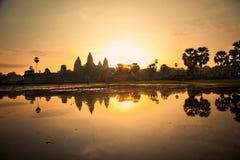 Διάσημος ναός Angkor Wat στο sunrice, Καμπότζη Στοκ Εικόνες