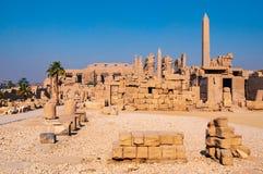 Διάσημος ναός Karnak σύνθετος του RA Amon σε Luxor στοκ εικόνες με δικαίωμα ελεύθερης χρήσης
