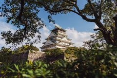 Διάσημος προορισμός ταξιδιού της Ιαπωνίας, κάστρο της Οζάκα στοκ εικόνες