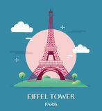 Διάσημος πύργος Παρίσι Γαλλία του Άιφελ ορόσημων απεικόνιση αποθεμάτων