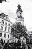 Διάσημος πύργος πυρκαγιάς σε Sopron, Ουγγαρία, άχρωμη στοκ εικόνα