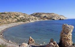 Διάσημος τουριστικός βράχος Aphrodite ` s ορόσημων Στοκ Εικόνες
