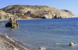 Διάσημος τουριστικός βράχος Aphrodite ` s ορόσημων Στοκ Εικόνα