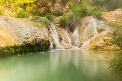 Διάσημος τουριστικός προορισμός Polilimnio στην Ελλάδα Πελοπόννησος στοκ εικόνες με δικαίωμα ελεύθερης χρήσης