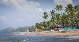 Διάσημος τόπος προορισμού τουριστών παραλιών Anjuna, Goa, Ινδία Στοκ φωτογραφία με δικαίωμα ελεύθερης χρήσης