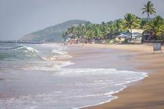 Διάσημος τόπος προορισμού τουριστών παραλιών Anjuna, Goa, Ινδία Στοκ φωτογραφίες με δικαίωμα ελεύθερης χρήσης