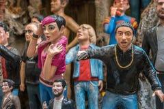 Διάσημο άγαλμα προσώπων στη Νάπολη στοκ εικόνες