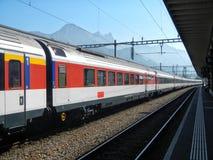Διάσημο ελβετικό τραίνο στοκ εικόνες