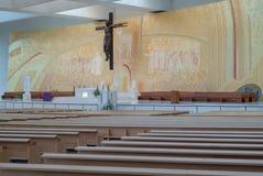 διάσημο θρησκευτικό viewl της Πορτογαλίας σημείου θέσεων της Fatima iteresting Μέσα στην εκκλησία της περισσότερης ιερής τριάδας Στοκ φωτογραφία με δικαίωμα ελεύθερης χρήσης