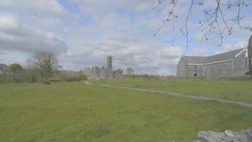 Διάσημο ιρλανδικό ορόσημο, quin αβαείο, νομός clare, Ιρλανδία φιλμ μικρού μήκους