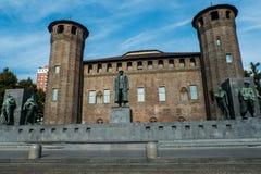 Διάσημο ιστορικό κτήριο στο Τορίνο Στοκ Εικόνες