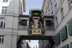 Διάσημο ιστορικό ρολόι αριθμών στη Βιέννη Στοκ Φωτογραφία