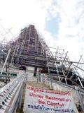 Διάσημο ιστορικό stupa βουδισμού στο ναό WAT ARUN, ΜΠΑΝΓΚΌΚ, ΤΑΪΛΆΝΔΗ Στοκ Εικόνα