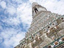 Διάσημο ιστορικό stupa βουδισμού στο ναό WAT ARUN, ΜΠΑΝΓΚΌΚ, ΤΑΪΛΆΝΔΗ Στοκ Εικόνες