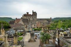 Διάσημο κάστρο του γαλλικού τμήματος Dordogne στοκ εικόνες με δικαίωμα ελεύθερης χρήσης