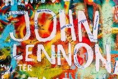 Διάσημο μέρος στην Πράγα - ο τοίχος του John Lennon Στοκ Εικόνες