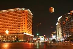 διάσημο μεγάλο φεγγάρι ξενοδοχείων έκλειψης του Πεκίνου Στοκ εικόνες με δικαίωμα ελεύθερης χρήσης