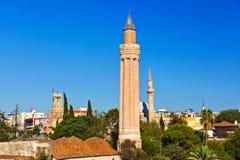 Διάσημο μουσουλμανικό τέμενος σε Antalya Τουρκία Στοκ Εικόνες