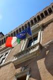 Διάσημο μπαλκόνι του venezia πλατειών στη Ρώμη όπου αγνοεί Στοκ εικόνες με δικαίωμα ελεύθερης χρήσης