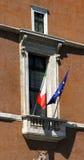 Διάσημο μπαλκόνι του venezia πλατειών στη Ρώμη Στοκ εικόνα με δικαίωμα ελεύθερης χρήσης