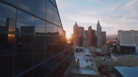 Διάσημο ξενοδοχείο της Νέας Υόρκης της Νέας Υόρκης στο Λας Βέγκας με τους ουρανοξύστες του - ΗΠΑ 2017 φιλμ μικρού μήκους