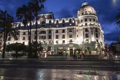 Διάσημο ξενοδοχείο Negresco στη Νίκαια στη Γαλλία Στοκ φωτογραφία με δικαίωμα ελεύθερης χρήσης