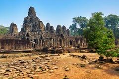 Διάσημο ορόσημο της Καμπότζης ναός angkor bayon thom Παγκόσμια κληρονομιά Στοκ Φωτογραφία