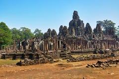 Διάσημο ορόσημο της Καμπότζης ναός angkor bayon thom Παγκόσμια κληρονομιά Στοκ εικόνες με δικαίωμα ελεύθερης χρήσης