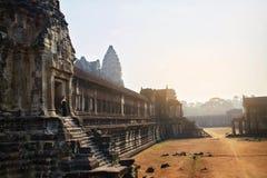 Διάσημο ορόσημο της Καμπότζης Ναός Wat Angkor Τουριστικό αξιοθέατο, Στοκ φωτογραφία με δικαίωμα ελεύθερης χρήσης