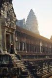 Διάσημο ορόσημο της Καμπότζης Ναός Wat Angkor Τουριστικό αξιοθέατο, Στοκ Εικόνες