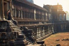 Διάσημο ορόσημο της Καμπότζης Ναός Wat Angkor Τουριστικό αξιοθέατο, Στοκ εικόνα με δικαίωμα ελεύθερης χρήσης