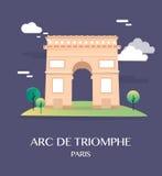 Διάσημο ορόσημο Arc de Triomphe Παρίσι Γαλλία Στοκ Φωτογραφίες