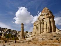 Διάσημο ορόσημο Cappadocian, μοναδικοί ηφαιστειακοί στυλοβάτες βράχου, Τουρκία Στοκ Φωτογραφίες