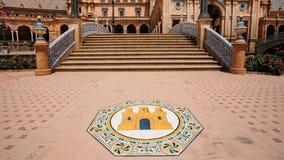 Διάσημο ορόσημο - Plaza de Espana στη Σεβίλη Στοκ Φωτογραφίες