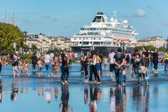 Διάσημο ολλανδικό κρουαζιερόπλοιο Prinsendam στο Μπορντώ, Γαλλία Στοκ φωτογραφία με δικαίωμα ελεύθερης χρήσης