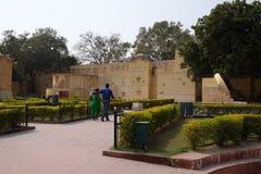 Διάσημο παρατηρητήριο Jantar Mantar στο Jaipur Στοκ φωτογραφίες με δικαίωμα ελεύθερης χρήσης