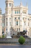 Διάσημο τετράγωνο πηγών Cibeles στη Μαδρίτη, Ισπανία Στοκ Φωτογραφίες