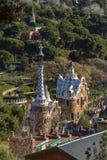 Διάσημο Casa del Guarda στο πάρκο Guell στη Βαρκελώνη, Ισπανία στοκ φωτογραφία με δικαίωμα ελεύθερης χρήσης