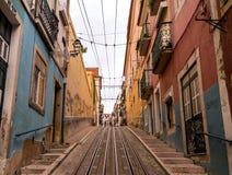 Διάσημο funicular Bica (Elevador DA Bica) Στοκ φωτογραφίες με δικαίωμα ελεύθερης χρήσης