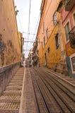 Διάσημο funicular Bica (Elevador DA Bica) Στοκ Εικόνες