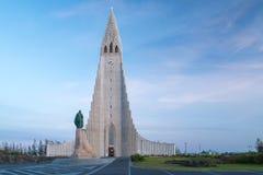 Διάσημο Hallgrimskirkja, Ρέικιαβικ, Ισλανδία Στοκ Εικόνες