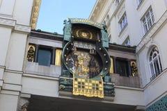 Διάσημο Jugendstil Ankeruhr στη Βιέννη Στοκ Φωτογραφίες