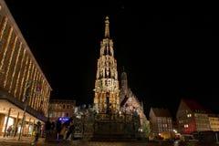 Διάσημο Schoener Brunnen στοκ φωτογραφία με δικαίωμα ελεύθερης χρήσης