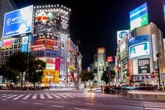 Διάσημο Shibuya που διασχίζει στο Τόκιο Στοκ Φωτογραφία